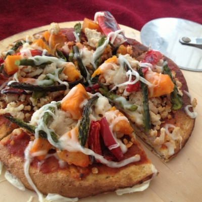 Roasted Veggie and Sweet Potato Pizza