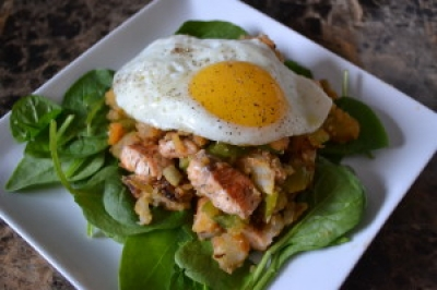 Salmon and Potato Hash