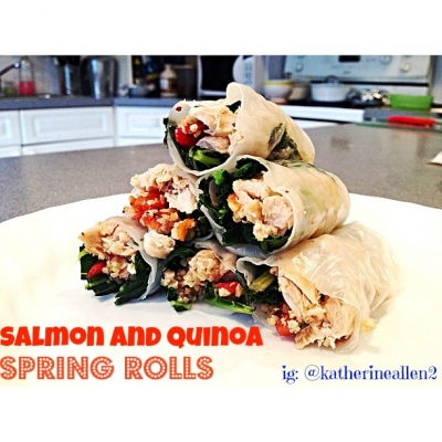 Salmon and Quinoa Spring Rolls