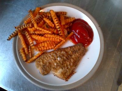 Salmon and Sweet Potato Fries