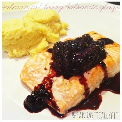 Salmon With Berry Balsamic Glaze