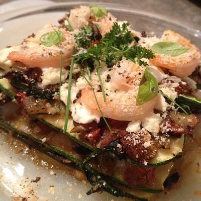 Shrimp and Mushroom Lasagna With Zucchini Noodles