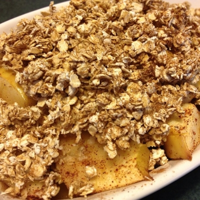 Simple Apple Crisp for One