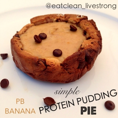 Simple Pb Banana Protein Pie