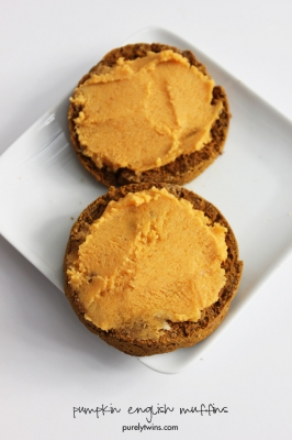 Single Serving Pumpkin Protein Egg-Free English Muffin