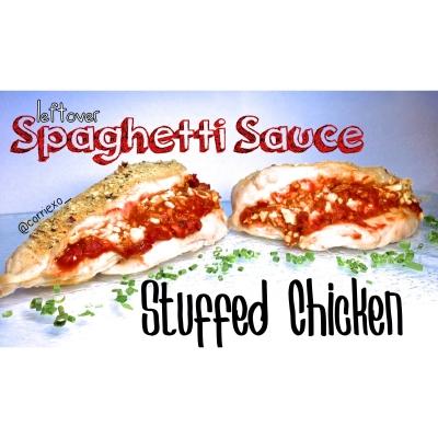 Spaghetti Sauce Stuffed Chicken