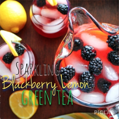 Sparkling Blackberry Lemon Green Tea