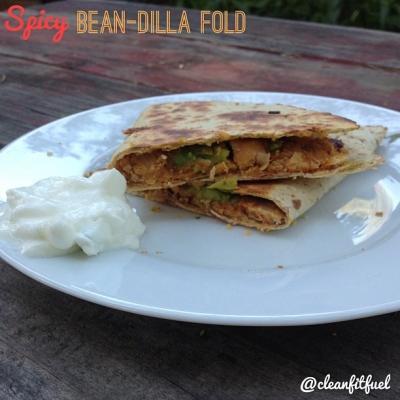 Spicy Bean-Dilla Fold