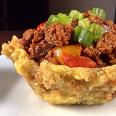 Spicy Beef Mofongo Bowl