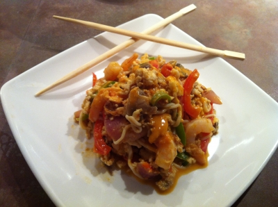 how to make pad thai spicy