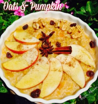 Spicy Pumpkin Oatmeal