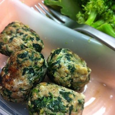Spinach Florentine Turkey Meatballs