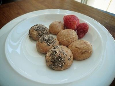 Strawberry  Vanilla Protein Truffles
