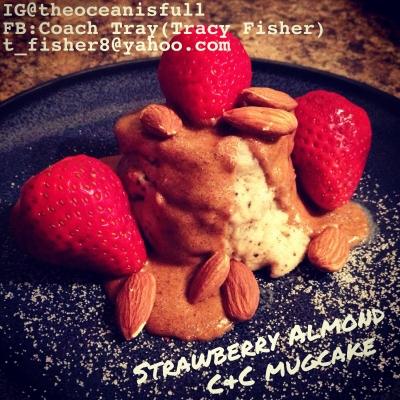 Strawberry Almond C&C Mugcake