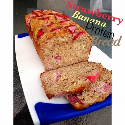 Strawberry Banana Protein Bread