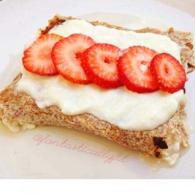 Strawberry Cheesecake Burrito