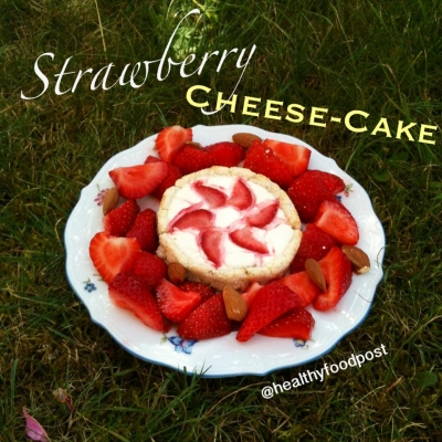 Strawberry Cheesecake With a Coconut Crust