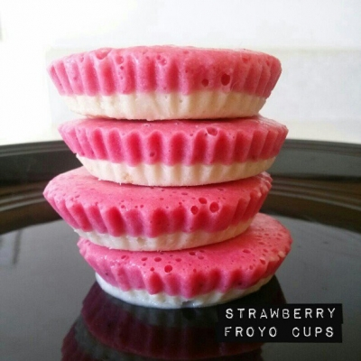 Strawberry Protein Froyo Cups