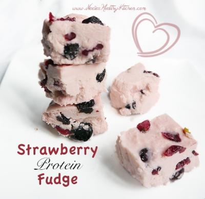 Strawberry Protein Fudge