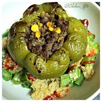 Stuffed Pepper Over Quinoa Salad