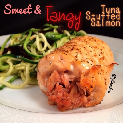 Sweet and Tangy Tuna-Stuffed Salmon