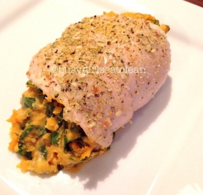 Sweet Potato and Goat Cheese Chicken Roll-Up