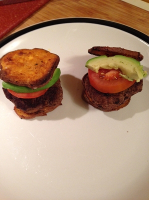 Sweet Potato Burger Sliders