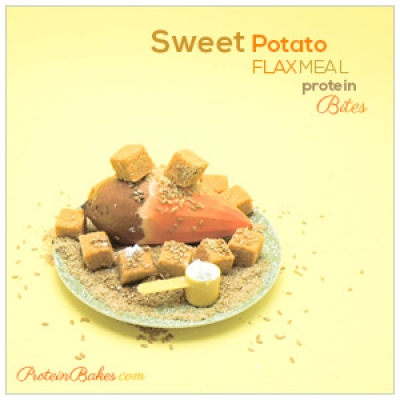 Sweet Potato Flaxmeal Protein Bites