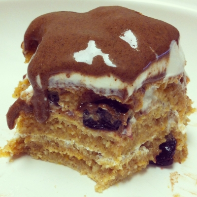 Sweet Potato Pancakes With Toffee Fluff
