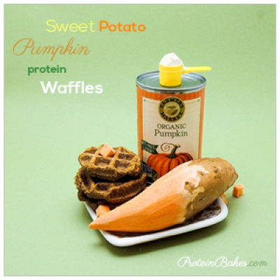 Sweet Potato Pumpkin Protein Waffles