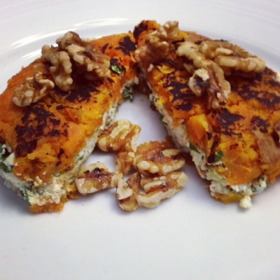 Sweet Potato Ricotta Grilled Cheese Sandwich