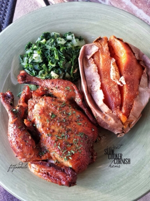 Sweet Slow Cooker Cornish Hens