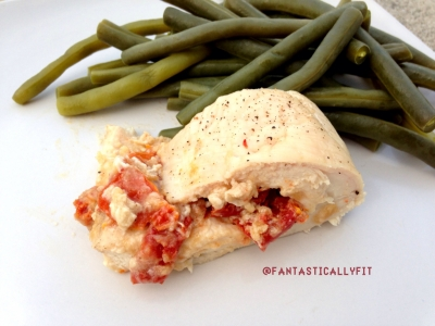 Tahini and Sun Dried Tomato Stuffed Chicken