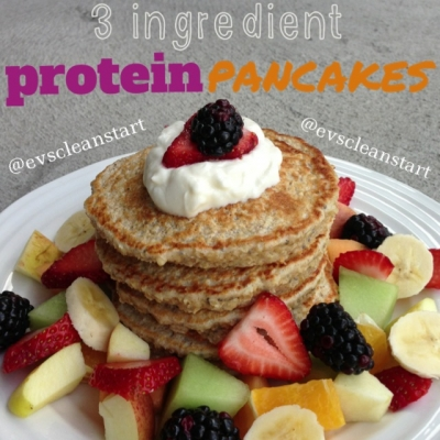 Three Ingredient Protein Pancakes