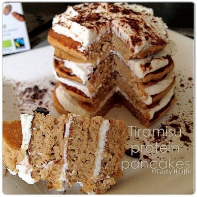 Tiramisu Protein Pancakes