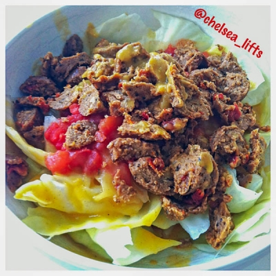 Tofurky Cabbage Salad