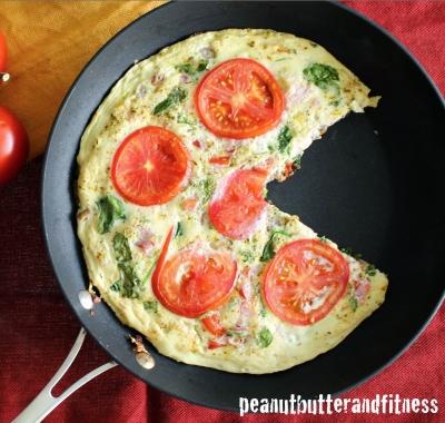 Tomato, Basil & Spinach Egg White Frittata