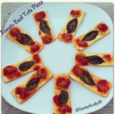 Tomato Basil Tofu Pizza