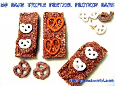 Triple Pretzel No Bake Protein Bars