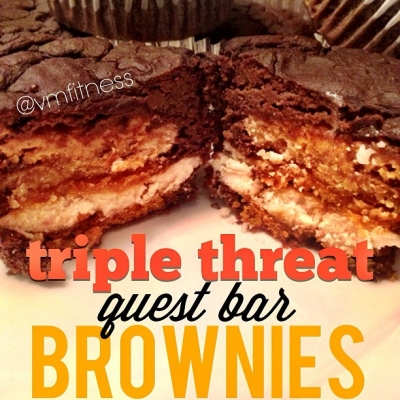 Triple Threat Questbar Brownies