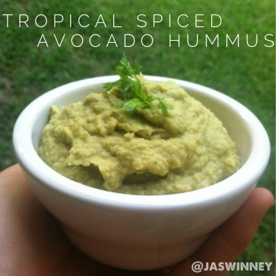 Tropical Spiced Avocado Hummus