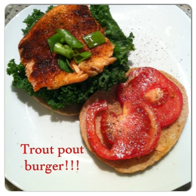Trout Pout Burger