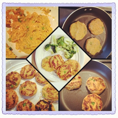 Tuna and Sweet Potato Cakes
