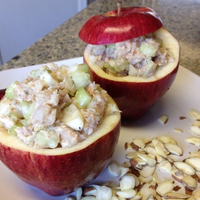 Tuna Salad Apple Cups