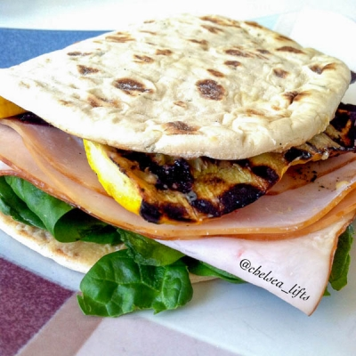 Turkey and Grilled Squash Sandwich