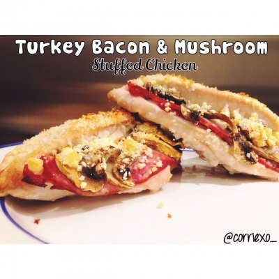 Turkey Bacon & Mushroom Stuffed Chicken