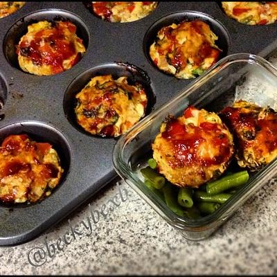 Turkey Quinoa Mini Meatloaves