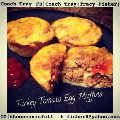 Turkey Tomato Egg Muffins
