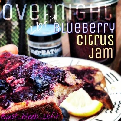 Twobfit Overnight Blueberry Citrus Jam