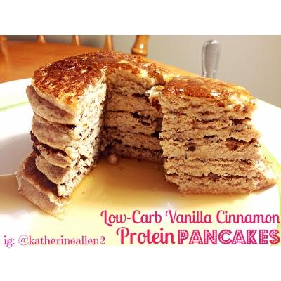 Vanilla Cinnamon Protein Pancakes